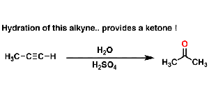 Hydroboration and Oxymercuration of Alkynes