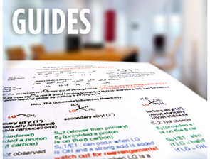 Notes from a recent organic chemistry tutoring session